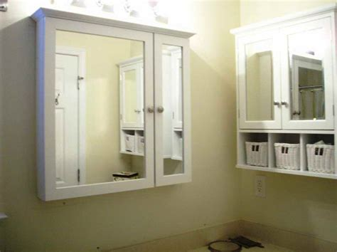 modern recessed medicine cabinets for bathroom with basket