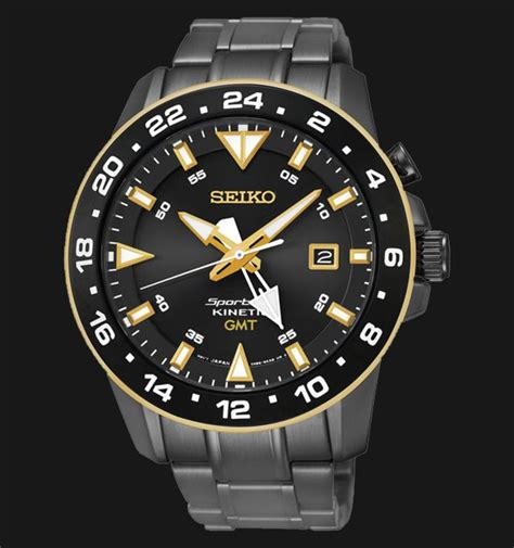 Jam Tangan Seiko Sun028p1 Sportura Kinetic Gmt Black Gold jam tangan alexandre christie sport terbaru jualan jam