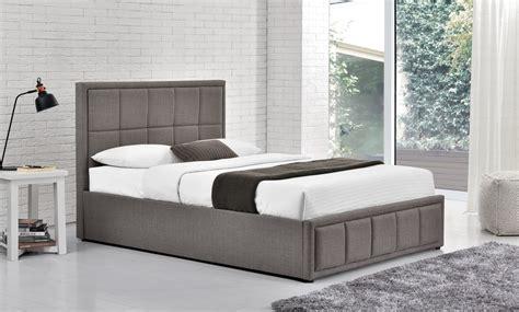 150cm shay fabric ottoman bed grey oak furniture direct