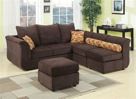 Chenille Sectional Sofa Caisy Chocolate Chenille Sectional Sofa Contemporary Sectional Sofas New York By