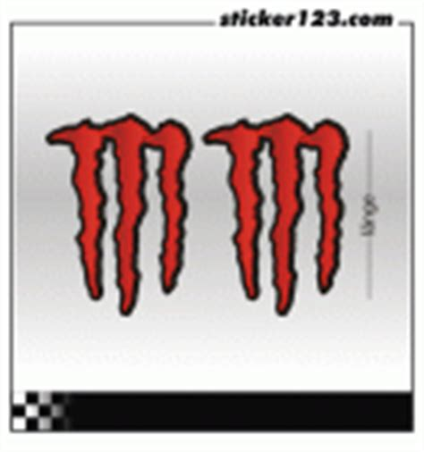 Monster Energy Aufkleber In Rot by Sticker123 Car Aufkleber