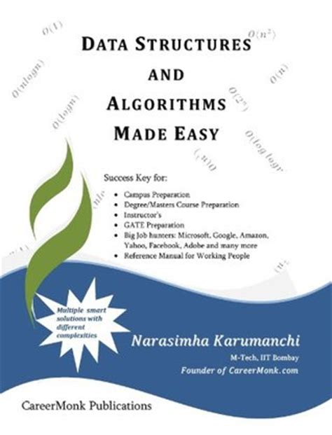 focus on data structures programming series seventh edition books data structures and algorithms made easy by narasimha