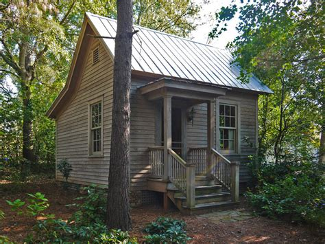 rustic guest cottage pine street guest house rustic exterior by hall