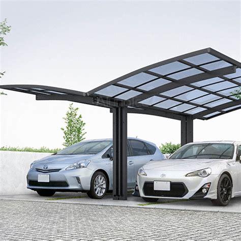 polycarbonate aluminum double carport  car garage buy double carport polycarbonated