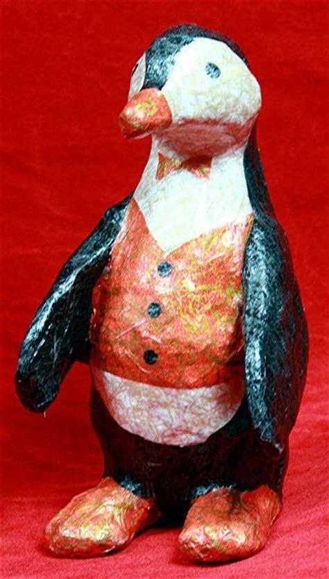How To Make A Paper Mache Penguin - penguin knutselen paper mache crafts