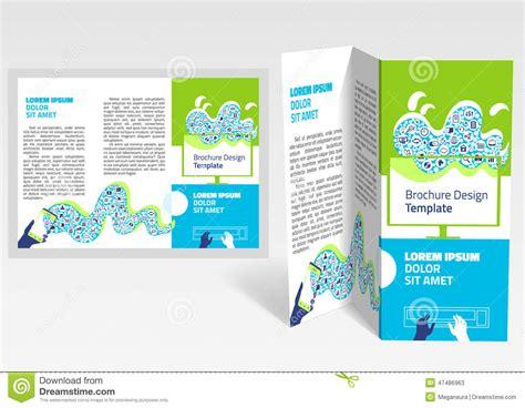 editable brochure templates brochure booklet z fold layout editable design template
