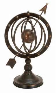 metal armillary sphere globe solar earth  arrow