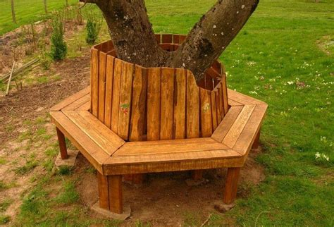 round tree bench 20 easiest ideas with shipping wood pallets diy home decor