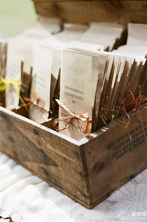 wedding ceremony program ideas 20 great ideas to use wooden crates at rustic weddings