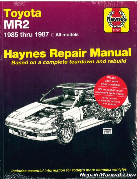 what is the best auto repair manual 1985 ford bronco ii free book repair manuals haynes toyota mr2 1985 1987 auto repair manual