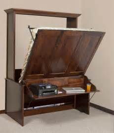 Murphy Bed Desk Murphy Wall Bed And Desk Amish Murphy Desk Bed From