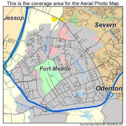 aerial photography map of fort meade md maryland