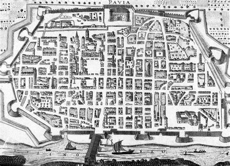 pianta di pavia storia urbana di pavia cartografia le mappe on line