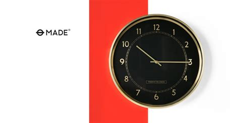 best made wall clock aldwych wall clock polished brass made com