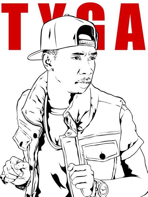 Tyga Coloring Pages Coloring Home Chris Brown Para Colorir