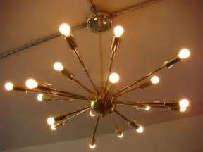 atomic light fixture polished brass atomic sputnik starburst light fixture
