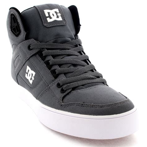 high top skate shoes mens dc shoes spartan high textile lace up high top skate