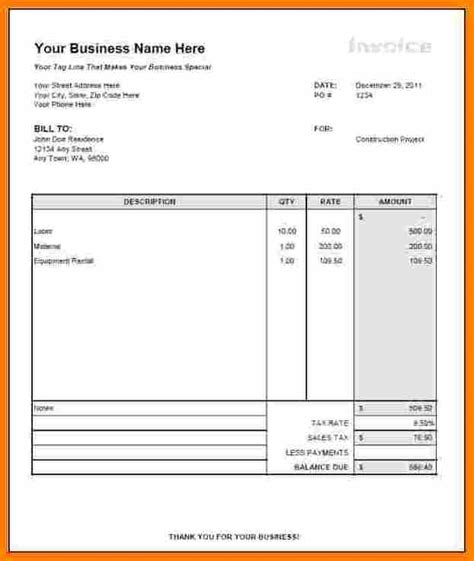 9 general contractor invoice template invoice term