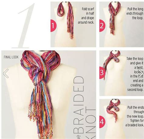 20 style tips on how to wear and tie a scarf for any