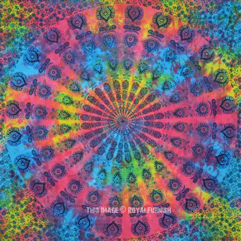 colorful tapestry multi holi colorful mandala throw hippie tie dye sheet