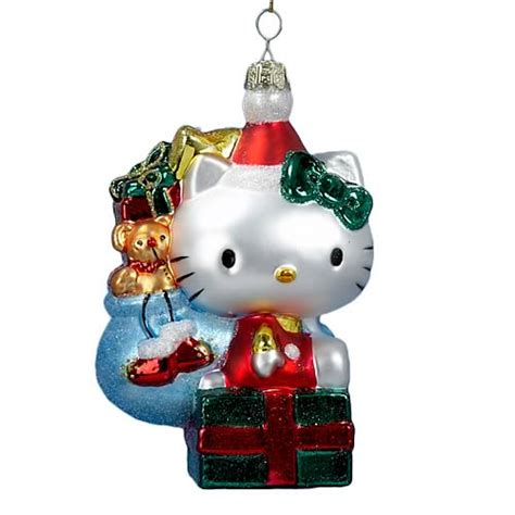 hello kitty retro 5 inch glass ornament kurt s adler