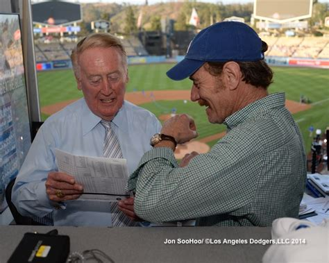 bryan cranston vin scully video bryan cranston is the one who knocks and vin