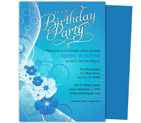 16th birthday invitations templates 7 best birthday invitation templates images on