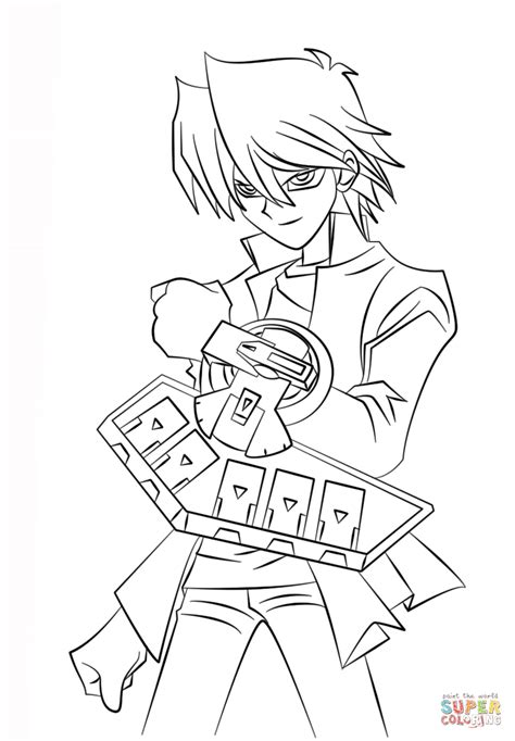 yu gi oh coloring pages joey wheeler from yu gi oh coloring page free printable