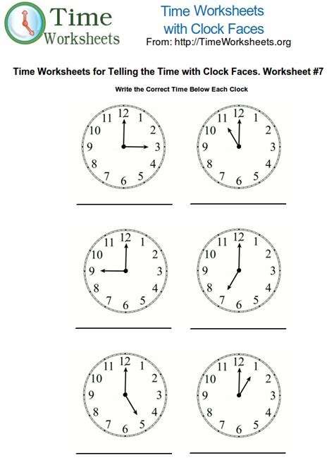 printable time math sheets time math worksheets with clock faces 7 time worksheets org