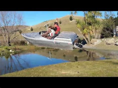 thomas hewitt jet boat kit emperor 10ft mini wee aluminum jet boat test 1 2 and 3 by