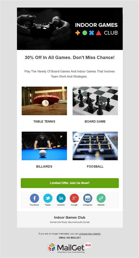 Email Marketing At 0 11 Best Sports Email Template Formget Best Email Advertising Templates