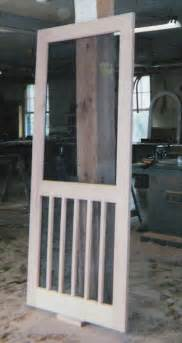custom made built wood and screen doors traditional