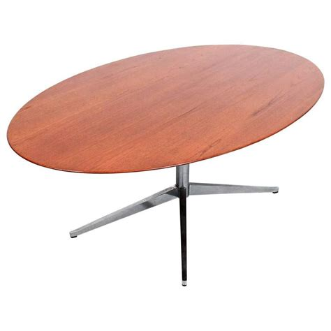 oval florence knoll teak dining table for sale at 1stdibs