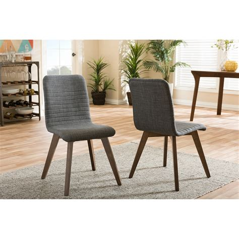 Scandinavian Style Dining Chairs Baxton Studio Sugar Mid Century Retro Modern Scandinavian Style Grey Fabric Upholstered