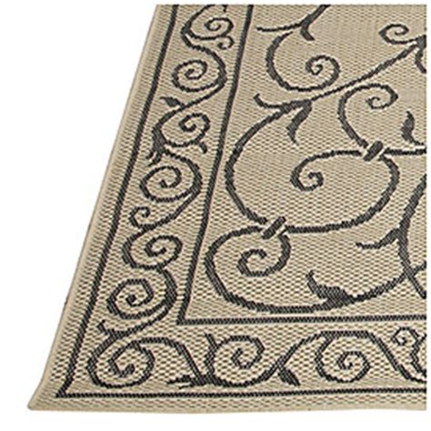 View 8 X 10 Beige Black Scroll Design Patio Rug Deals Big Lots Outdoor Rugs
