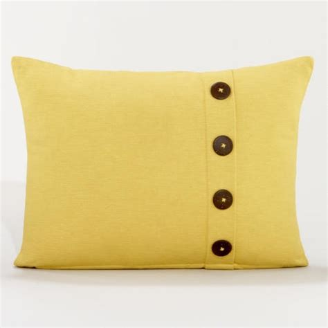 Pillows With Buttons by Yellow Ribbed Throw Pillow With Buttons House Decor
