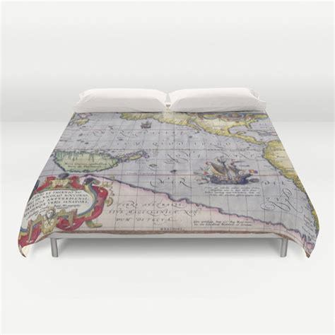 world map bedding antique world map duvet cover vintage world map bedding old