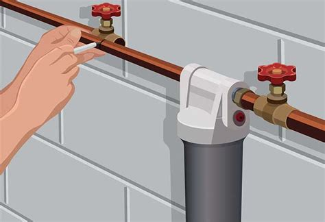 how to install whole house water filter installing a whole house water filter at the home depot