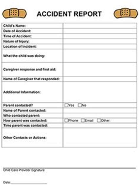 Crash Report Template Mo Classroom Forms On Lesson Plan Templates