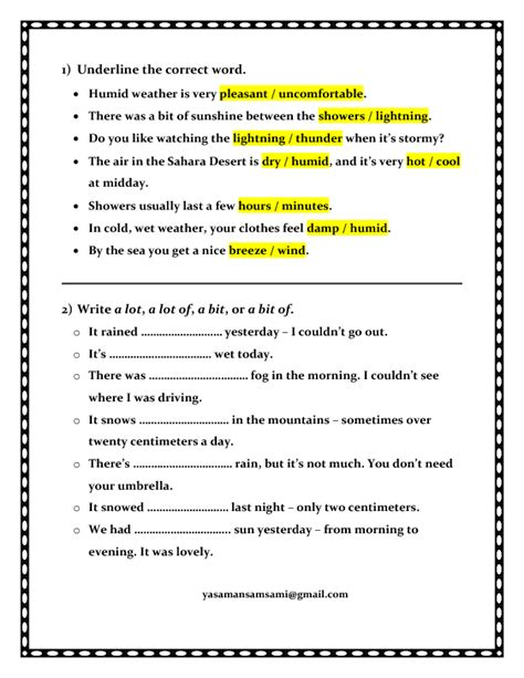 Weather And Climate Worksheets by 239 Free Weather Worksheets