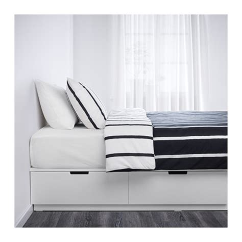 ikea nordli bett nordli bed frame with storage white 140x200 cm ikea