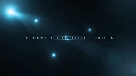 after effects templates free trailer elegant light title trailer after effects templates
