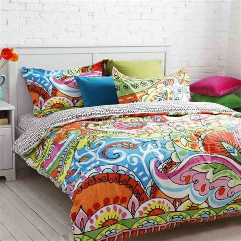 colorful comforters bedroom cute tribal print bedding for teenage girls