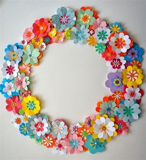 paper flower tutorial pinterest diy paper flower spring wreath with tutorial link