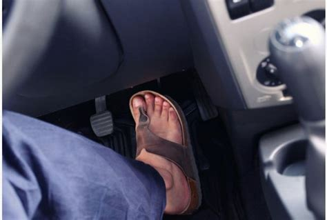 Do You Drive Shoeless by What The Says On Driving In Flip Flops Or Barefoot