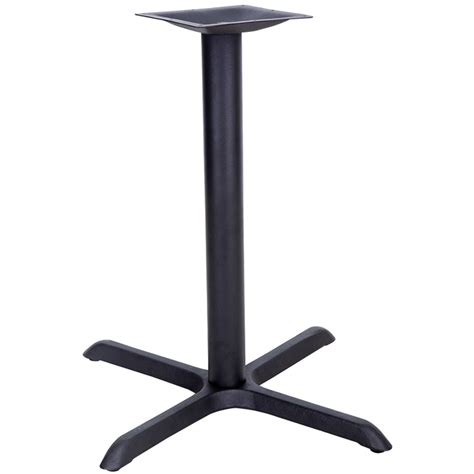 black sted steel cross table base osb restaurant