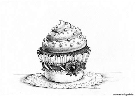 Coloriage Adulte Cupcakes Sophistique Moderne Dessin