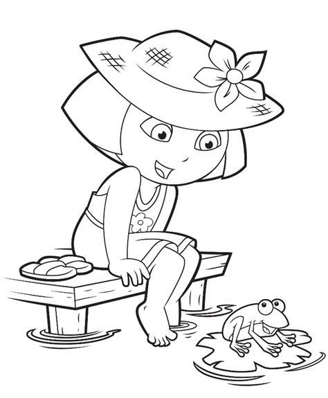 simple dora coloring pages show pag 2 colouring pages