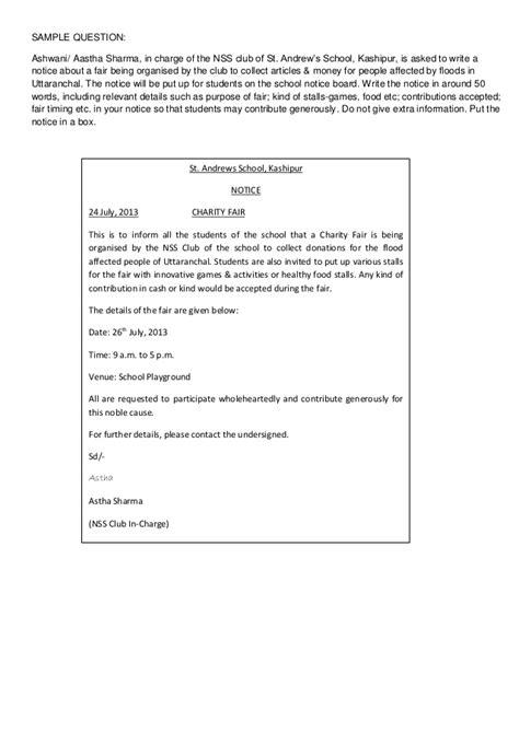 notice writing format notice writing