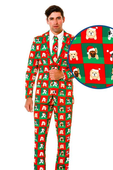suit for christmas party puppy print sweater suit the puppy style sweater suit